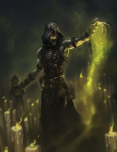 A Shaman wielding curses and vodun.