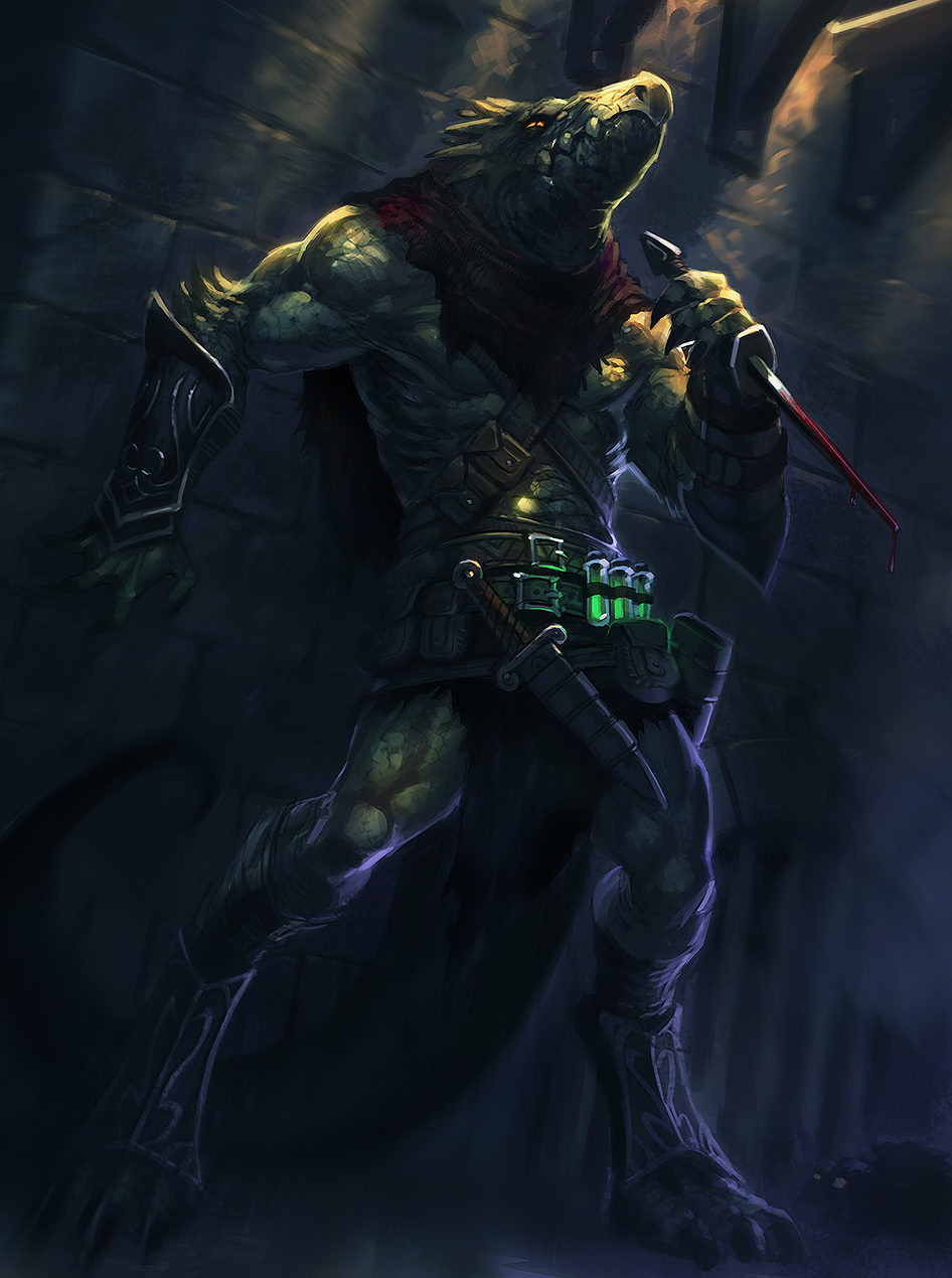 A master of shadows, the Depthswalker stalks in darkness with scythe and dagger.