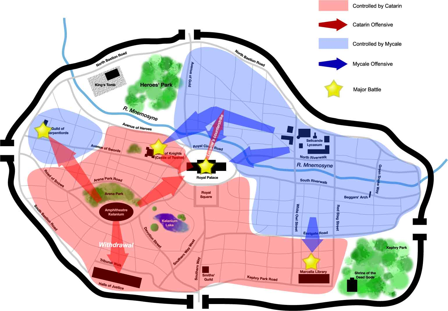 Tactical Map of the city of Seleucar.