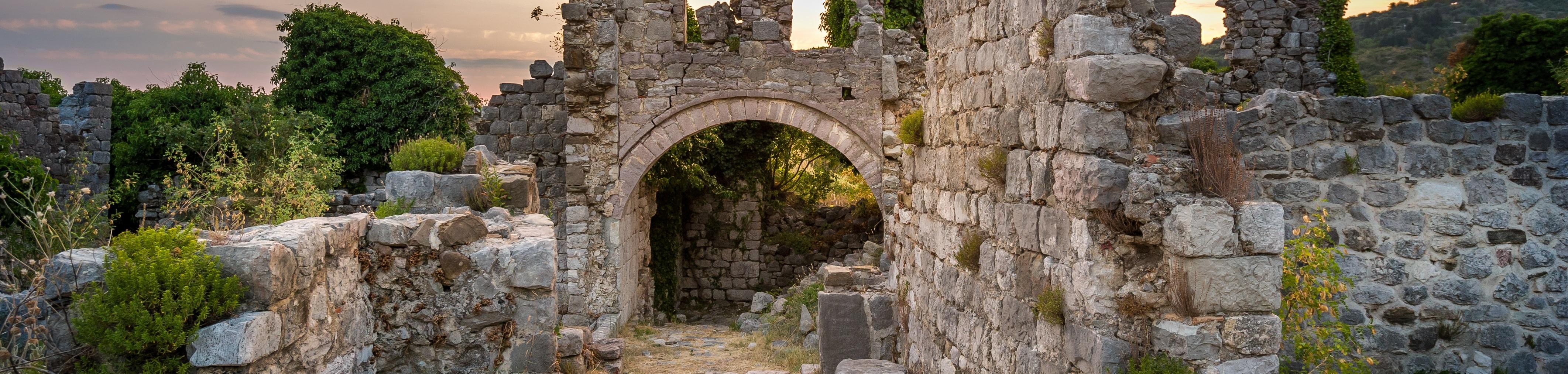A crumbling ruin