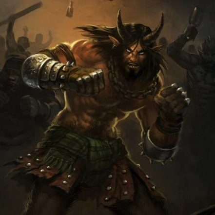 A horned Satyr.